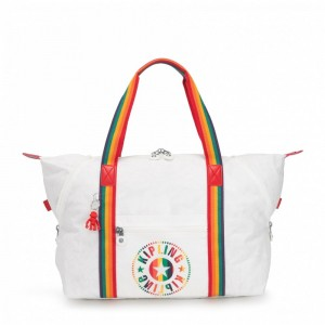 Kipling Sac Cabas Medium avec 2 Poches Frontales Rainbow White [ Promotion Black Friday 2020 Soldes ]