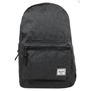 Herschel Sac à dos Settlement black crosshatch/black rubber Pas Cher