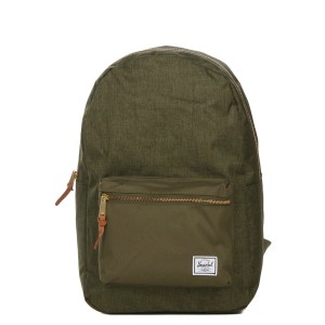 Herschel Sac à dos Settlement olive night crosshatch/olive night Pas Cher