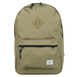 Herschel Sac à dos Heritage lead green/black/lead green rubber/black Pas Cher