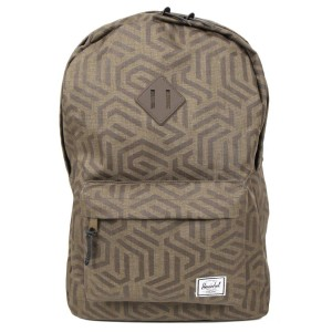 Herschel Sac à dos Heritage metric/black rubber [ Promotion Black Friday 2020 Soldes ]