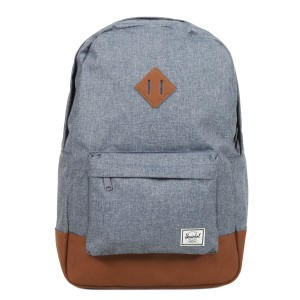 Herschel Sac à dos Heritage dark chambray crosshatch/tan [ Soldes ]