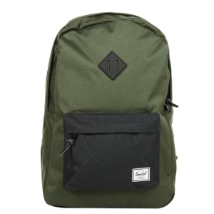 Herschel Sac à dos Heritage forest night/black/black rubber Pas Cher