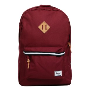 Herschel Sac à dos Heritage Offset windsor wine/veggie tan leather [ Soldes ]