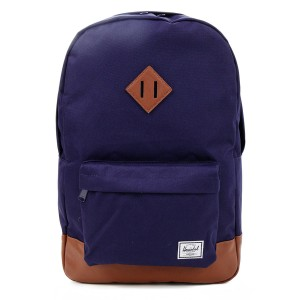 Herschel Sac à dos Heritage peacoat/tan synthetic leather [ Soldes ]