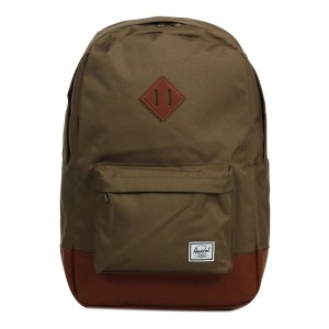 Herschel Sac à dos Heritage cub/tan synthetic leather [ Promotion Black Friday 2020 Soldes ]