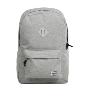 Herschel Sac à dos Heritage light grey crosshatch Pas Cher