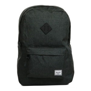 Herschel Sac à dos Heritage black crosshatch/black rubber Pas Cher