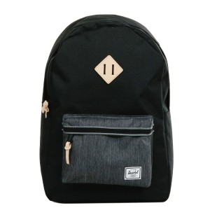 Herschel Sac à dos Heritage Offset black/black denim [ Promotion Black Friday 2020 Soldes ]