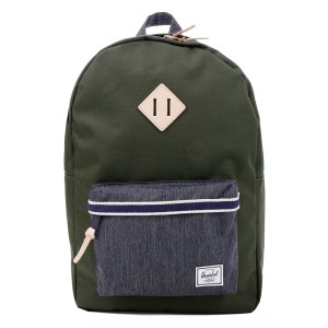 Herschel Sac à dos Heritage Offset forest night/ dark denim Pas Cher