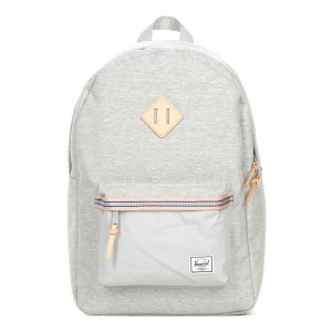 Herschel Sac à dos Heritage Offset light grey crosshatch/high rise Pas Cher
