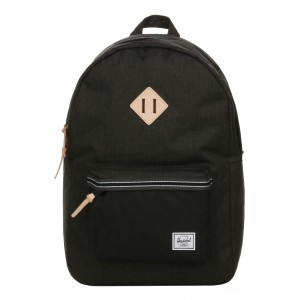 Herschel Sac à dos Heritage Offset black crosshatch/black [ Soldes ]