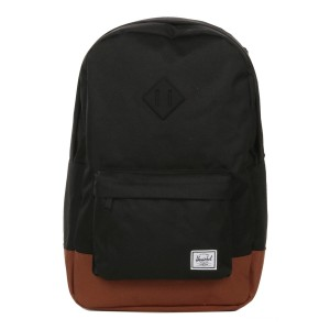 Herschel Sac à dos Heritage black/saddle brown Pas Cher
