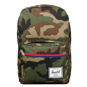 Herschel Sac à dos Pop Quiz woodland camo multi zip/tan Pas Cher