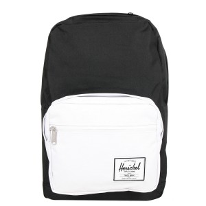 Herschel Sac à dos Pop Quiz black/white rubber Pas Cher