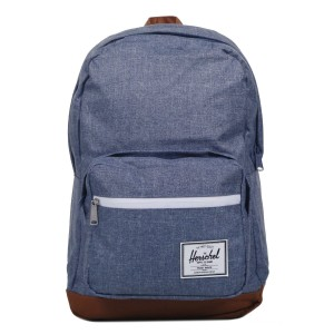 Herschel Sac à dos Pop Quiz dark chambray crosshatch/tan Pas Cher