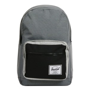 Herschel Sac à dos Pop Quiz mid grey crosshatch/black [ Soldes ]