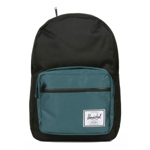 Herschel Sac à dos Pop Quiz black/deep teal Pas Cher