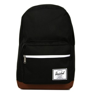 Herschel Sac à dos Pop Quiz black/saddle brown Pas Cher