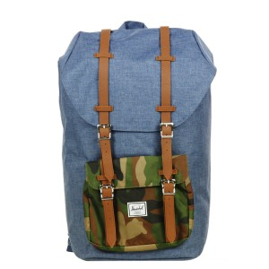 Herschel Sac à dos Little America navy crosshatch Pas Cher