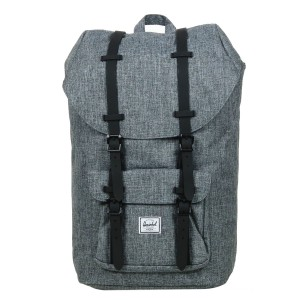 Herschel Sac à dos Little America raven crosshatch/black rubber [ Promotion Black Friday 2020 Soldes ]