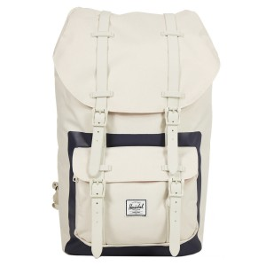 Herschel Sac à dos Little America natural/peacoat block print [ Promotion Black Friday 2020 Soldes ]