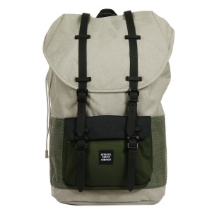 Herschel Sac à dos Little America Aspect light khaki crosshatch/forest night/black rubber Pas Cher