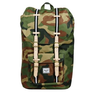 Herschel Sac à dos Little America Offset woodland camo/black/white [ Soldes ]