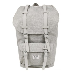 Herschel Sac à dos Little America light grey crosshatch Pas Cher