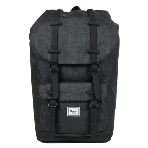 Herschel Sac à dos Little America black crosshatch/black rubber Pas Cher