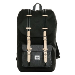 Herschel Sac à dos Little America Offset black/black denim Pas Cher