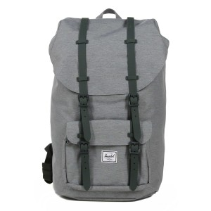 Herschel Sac à dos Little America mid grey crosshatch [ Promotion Black Friday 2020 Soldes ]
