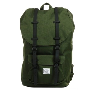 Herschel Sac à dos Little America forest night/black Pas Cher