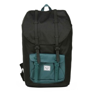 Herschel Sac à dos Little America black/deep teal [ Promotion Black Friday 2020 Soldes ]