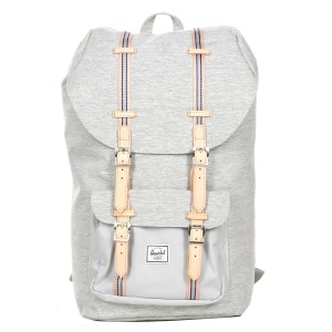Herschel Sac à dos Little America Offset light grey crosshatch/high rise Pas Cher