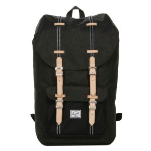 Herschel Sac à dos Little America Offset black crosshatch/black Pas Cher