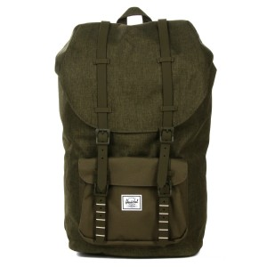 Herschel Sac à dos Little America olive night crosshatch/olive night Pas Cher