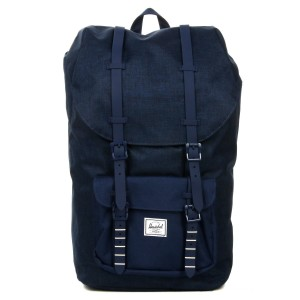 Herschel Sac à dos Little America medievel blue crosshatch/medievel blue Pas Cher