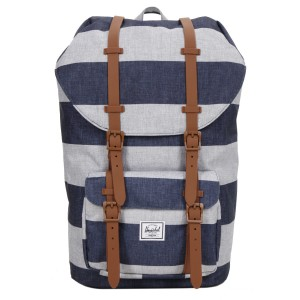Herschel Sac à dos Little America border stripe/saddle Pas Cher