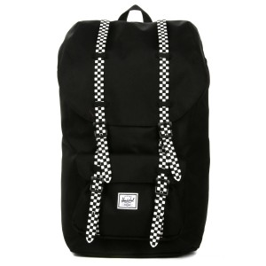 Herschel Sac à dos Little America black/checkerboard Pas Cher