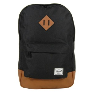 Herschel Sac à dos Heritage Mid Volume black/tan [ Promotion Black Friday 2020 Soldes ]
