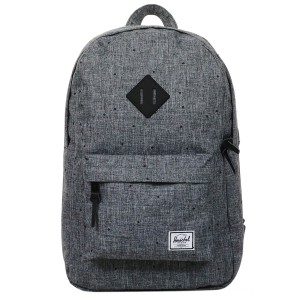 Herschel Sac à dos Heritage Mid Volume scattered raven crosshatch/black rubber Pas Cher