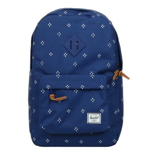 Herschel Sac à dos Heritage Mid Volume focus/twilight blue rubber [ Soldes ]