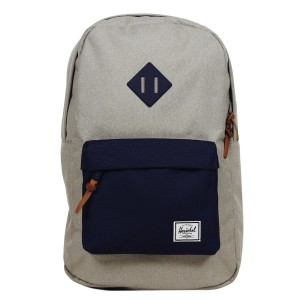 Herschel Sac à dos Heritage Mid Volume light khaki crosshatch/peacoat rubber [ Soldes ]