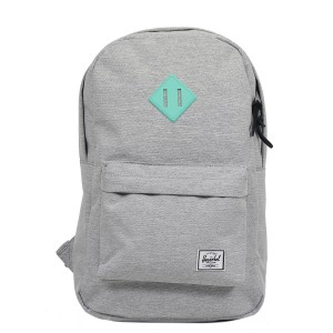 Herschel Sac à dos Heritage Mid Volume light grey crosshatch/lucite green rubber Pas Cher