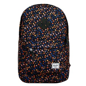 Herschel Sac à dos Heritage Mid Volume black mini floral/black synthetic leather [ Soldes ]