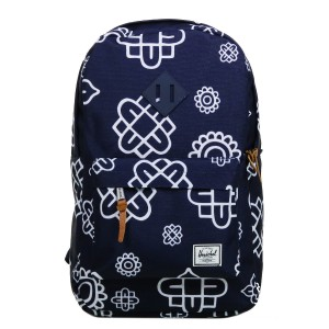 Herschel Sac à dos Heritage Mid Volume peacoat paisley print/peacoat rubber [ Promotion Black Friday 2020 Soldes ]