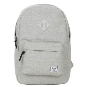 Herschel Sac à dos Heritage Mid Volume light grey crosshatch Pas Cher