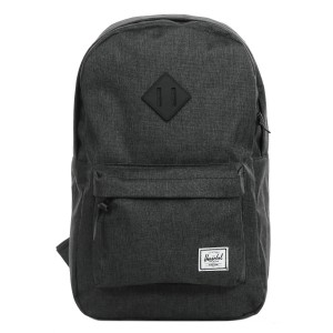 Herschel Sac à dos Heritage Mid Volume black crosshatch/black rubber Pas Cher