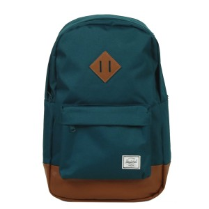 Herschel Sac à dos Heritage Mid Volume deep teal/tan synthetic leather Pas Cher